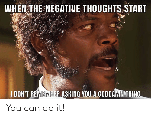 do it: You can do it!