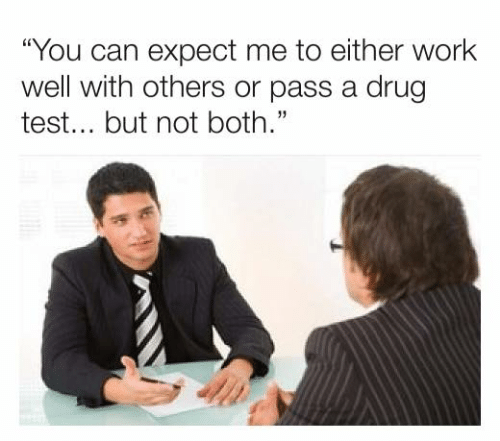 """Dank, Work, and Test: """"You can expect me to either work  well with others or pass a drug  test... but not both."""""""