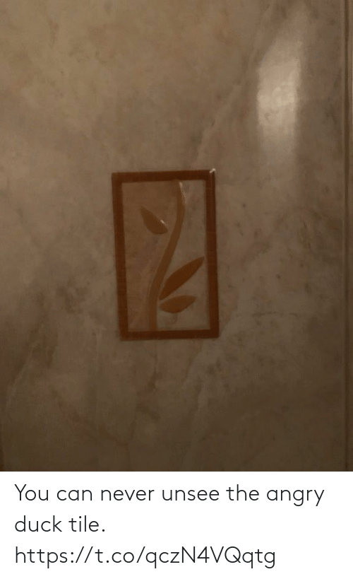 Never: You can never unsee the angry duck tile. https://t.co/qczN4VQqtg