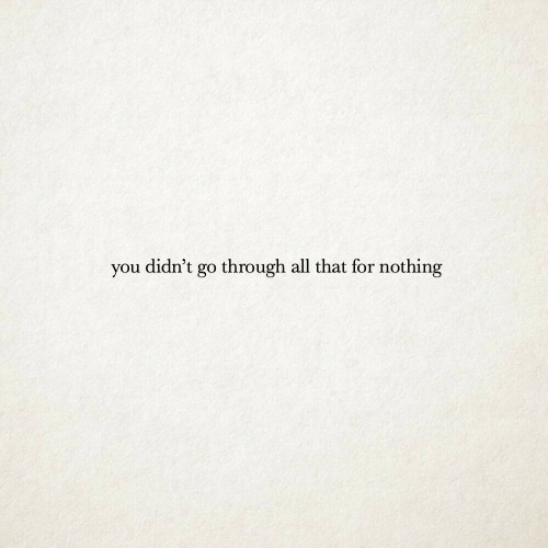 Throughs: you didn't go through all that for nothing