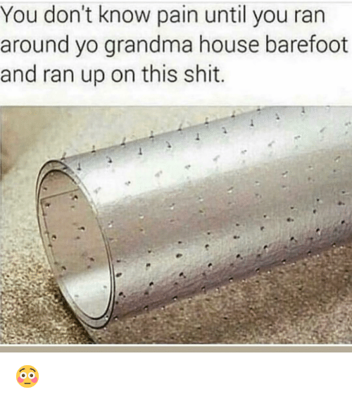 Funny, Grandma, and Shit: You don't know pain until you ran  around yo grandma house barefoot  and ran up on this shit 😳