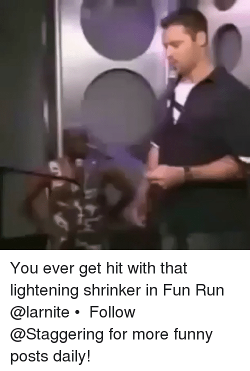 Funny, Run, and Trendy: You ever get hit with that lightening shrinker in Fun Run @larnite • ➫➫➫ Follow @Staggering for more funny posts daily!