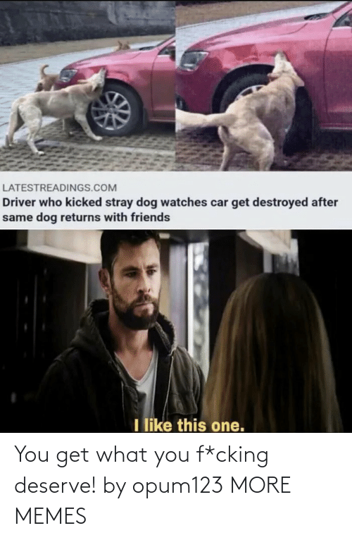 You Get: You get what you f*cking deserve! by opum123 MORE MEMES