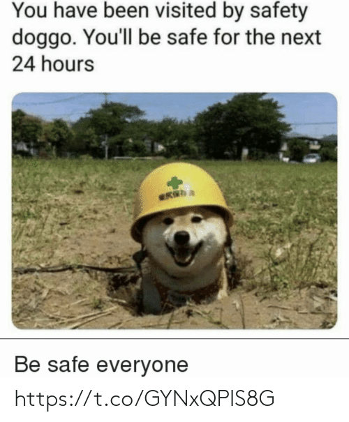 Memes, Been, and 🤖: You have been visited by safety  doggo. You'll be safe for the next  24 hours  Be safe everyone https://t.co/GYNxQPIS8G