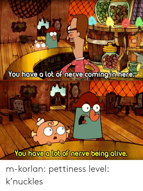 Alive, Target, and Tumblr: You hove a lot oh nerve coming ln nere:   You hove a lot of nerve being alive. m-korlan: pettiness level: k'nuckles