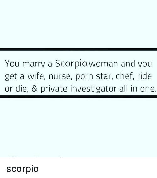 Who should a scorpio woman marry