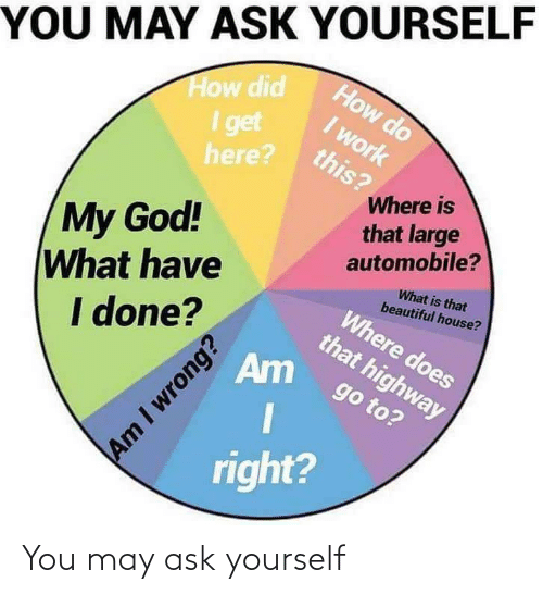 Ask, May, and You: You may ask yourself