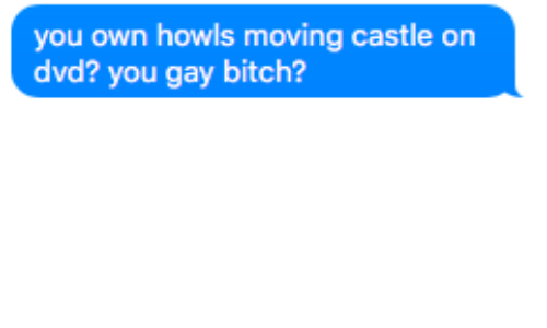 Bitch, Castle, and Dvd: you own howls moving castle on  dvd? you gay bitch?