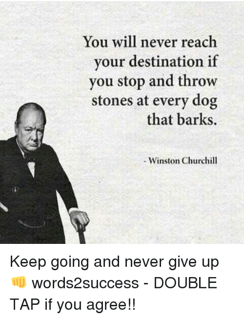 Memes Never And Winston Churchill You Will Reach Vour Destination If