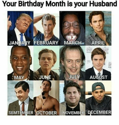 Birthday Month: Your Birthday Month is your Husband  JANUARY FEBRUARY MARCH APRIL  RIT  OS  益ARO  C SP  AW  MAY  JUNE  JULY AUGUST  SEMTEMBER 'OCTOBER 1 NOVEMBER DECEMBER