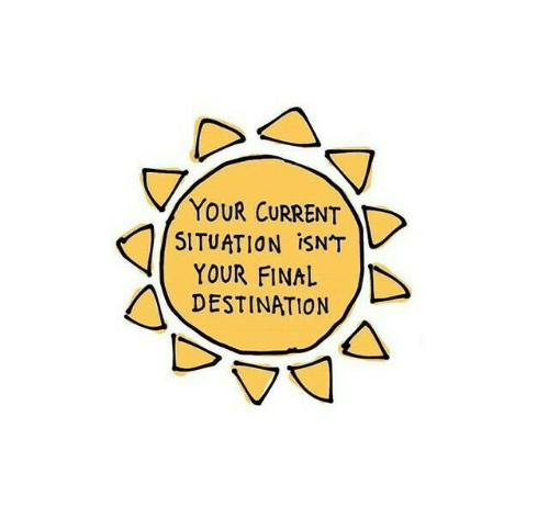 Final Destination, Final, and Current: YOUR CURRENT  SITUATION ISNT  YOUR FINAL  DESTINATION