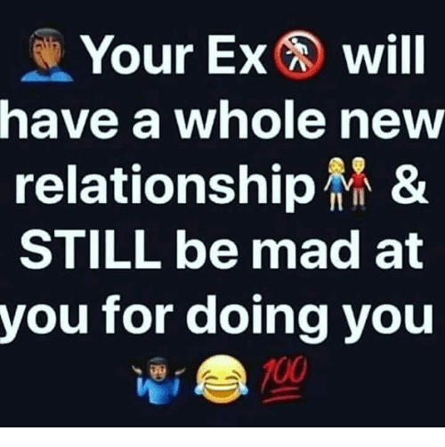 Anaconda, Memes, and Mad: Your Exwill  have a whole new  relationship &  STILL be mad at  you for doing you  100