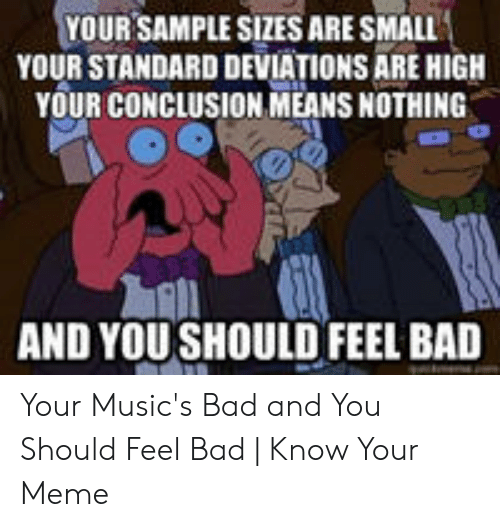 Your Sample Sizes Are Small Your Standard Deviations Are High Your