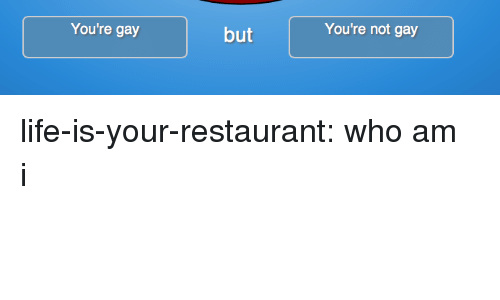 Life, Tumblr, and Who Am I: You're not gay  You're gay  but life-is-your-restaurant:  who am i