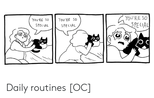 Youre, Daily, and Special: YOU'RE SO  You'RE SO  You'RE SO  SPECIAL  SPECIAL  SPECIAL Daily routines [OC]