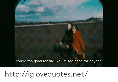 Good, Http, and Net: You're too good for me. You're too good for anyone http://iglovequotes.net/