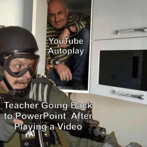 Powerpoint: YouTube  Autoplay  Teacher Going Back  to PowerPoint After  Playing a Video  PAT