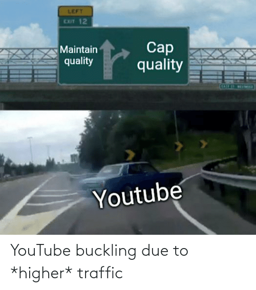 Traffic: YouTube buckling due to *higher* traffic
