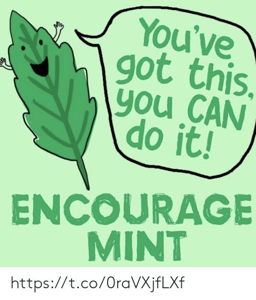 Memes, 🤖, and Got: You've  got this.  \you CAN  do it!  ENCOURAGE  MINT https://t.co/0raVXjfLXf