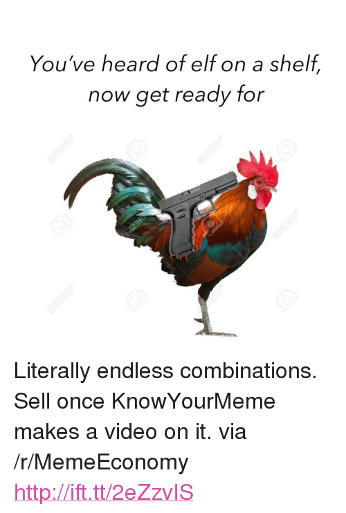 """knowyourmeme: You've heard of elf on a shelf,  now get ready for <p>Literally endless combinations. Sell once KnowYourMeme makes a video on it. via /r/MemeEconomy <a href=""""http://ift.tt/2eZzvIS"""">http://ift.tt/2eZzvIS</a></p>"""