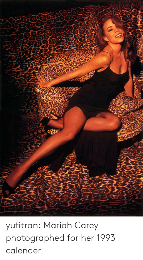 Mariah Carey, Tumblr, and Blog: yufitran: Mariah Carey photographed for her 1993 calender
