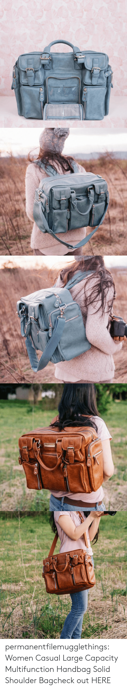 Tumblr, Blog, and Women: Z00   USE permanentfilemugglethings:  Women Casual Large Capacity Multifunction Handbag Solid Shoulder Bagcheck out HERE