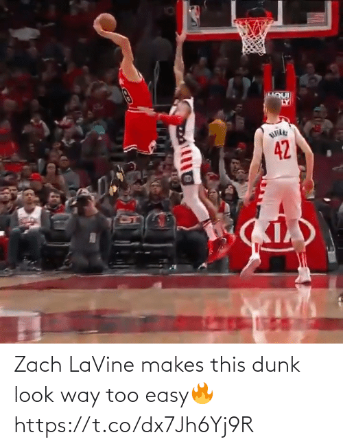 too: Zach LaVine makes this dunk look way too easy🔥 https://t.co/dx7Jh6Yj9R