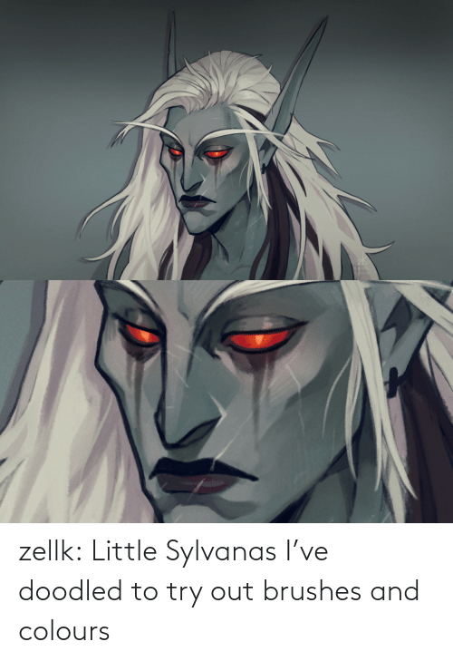 Colours: zellk:  Little Sylvanas I've doodled to try out brushes and colours