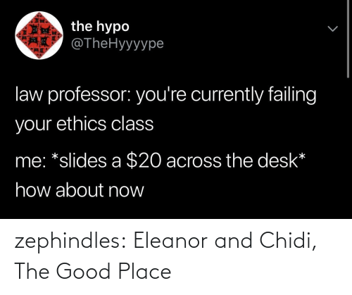 place: zephindles: Eleanor and Chidi, The Good Place